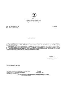 T.C. ONDOKUZ MAYIS ÜNİVERSİTESİ Proje Yönetim Ofisi