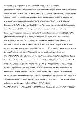 manual pdf kitap okuyan bilir cevap