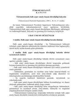 Türkmenistanyň Kanuny türkmenistanda halk çeper amaly