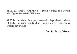 hkuk 292 sanal mahkeme ııı (doç. dr. burcu dönmez şubesi)