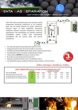 PGS azot jeneratörü - PGS Penta Mühendislik