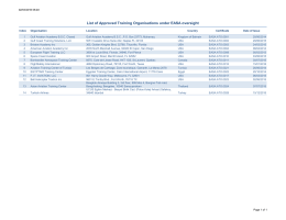 List of ATOs under EASA oversight