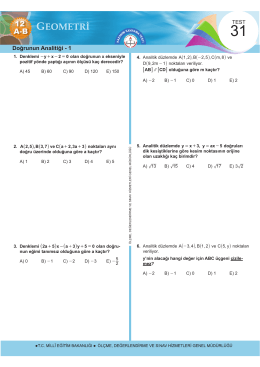 12 AB - Ölçme, Değerlendirme ve Sınav Hizmetleri Genel Müdürlüğü