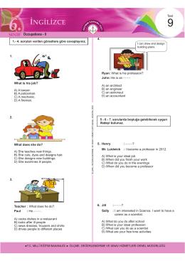 Occupations - II - Ölçme, Değerlendirme ve Sınav Hizmetleri Genel