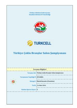 Türkiye Çoklu Branşlar Salon Şampiyonası