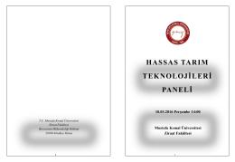PowerPoint Sunusu - Mustafa Kemal Üniversitesi