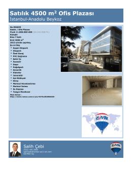 Satılık 4500 m2 Ofis Plazası
