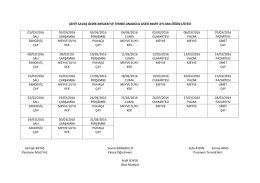 Okulumuz Pansiyonu Mart Ayı Ara Öğün Listesi 2016-03