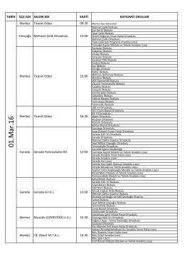 1 Mart Toplantı Listesi - bolu il millî eğitim müdürlüğü
