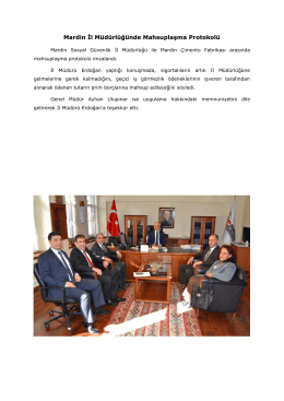 Mardin İl Müdürlüğünde Mahsuplaşma Protokolü