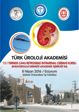 RIRCH Erzurum 2016 - Türk Üroloji Derneği