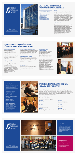 perakende ve gayrimenkul yönetimi sertifika programı alp alkaş