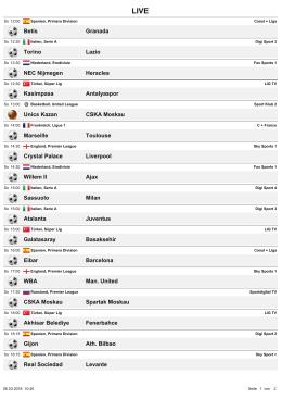 Betis Granada Torino Lazio NEC Nijmegen Heracles Kasimpasa