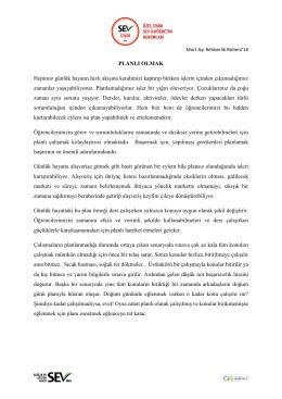 mart 2016 rehberlik bülteni