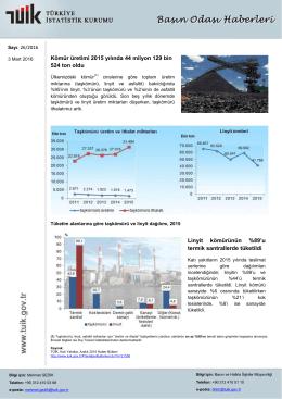 Kömür üretimi 2015 yılında 44 milyon 129 bin 524 ton oldu Linyit