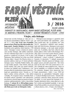 březen - Římskokatolická farnost u katedrály Plzeň