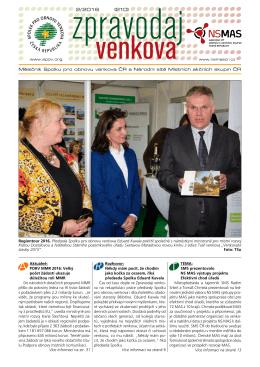 Zpravodaj venkova – měsíčník SPOV a NS MAS 2/2016