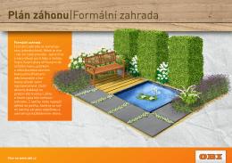 Plán záhonu Formální zahrada
