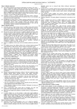 Úvěrové podmínky společnosti Home Credit a.s. – AUTO/MOTO