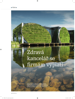 Článek o problematice zdravých kanceláří  - LIKO-S