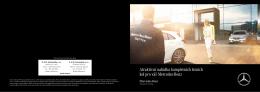Letáček k letním pneumatikám Mercedes-Benz