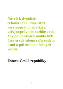 Ústava České republiky verze 27 02 2016