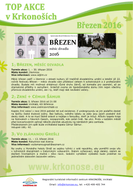 TOP akce v březnu - Informační centrum Trutnov