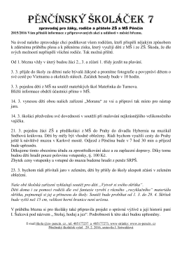 Školáček 07 - ZŠ a MŠ Pěnčín
