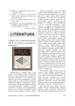 literatura - matematika–fyzika–informatika