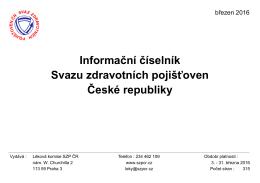 Informační číselník SZP ČR - Svaz zdravotních pojišťoven ČR
