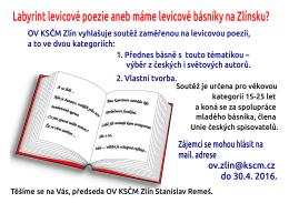 Labyrint levicové poezie aneb máme levicové básníky na Zlínsku?