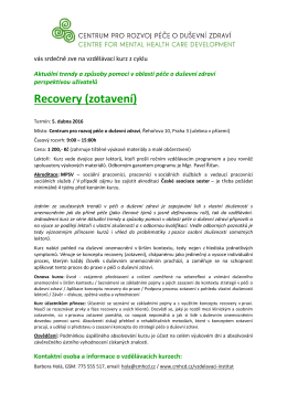 Pozvanka_Recovery_042016 - Centrum pro rozvoj péče o duševní