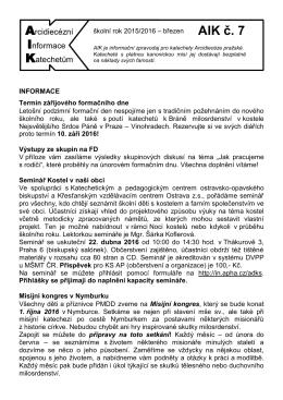 AIK č. 7 - Arcibiskupství pražské