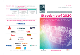 Pozvánka na Fórum českého stavebnictví 2016