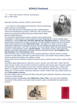 SCHULZ Ferdinand - Městská knihovna Nymburk