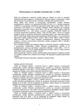 více - Rada pro rozhlasové a televizní vysílání