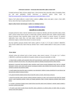 Informační oznámení – Jmenování členů dozorčího