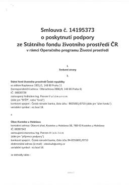 Smlouva č.14195373, k bodu č. 9 ZO č.4 ze dne 17.2.2015
