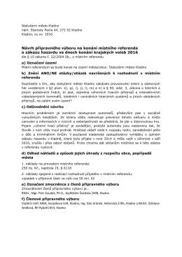 Návrh přípravného výboru na konání místního referenda o zákazu