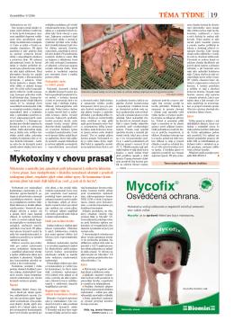 Mykotoxiny v chovu prasat