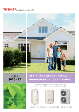 Ceník tepelná čerpadla Toshiba ESTIA & ESTIA