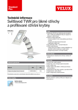 Produktový list - TWR