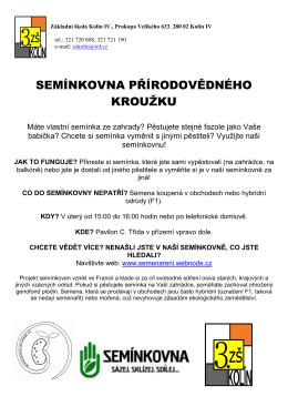 Semínkovna - 3. ZŠ Kolín