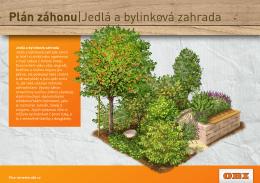Plán záhonu|Jedlá a bylinková zahrada