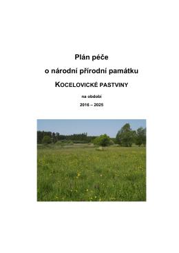 Návrh plánu péče  - Ministerstvo životního prostředí