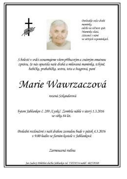 Marie Wawrzaczová
