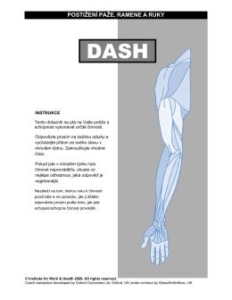 postižení paže, ramene a ruky - DASH