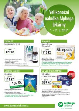 Velikonocní nabídka Alphega lékárny ˇ