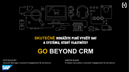 go beyond crm - Technologie pro marketing