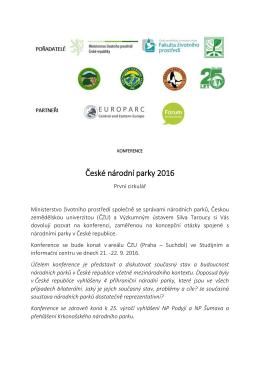 České národní parky 2016
